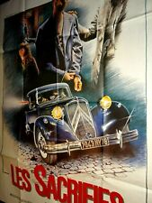 LES SACRIFIES affiche cinema cars automobile voiture citroen traction