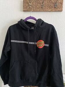 Santa Cruz Skateboards Graphic Fleece Hoodie Sweatshirt Sz L Boys