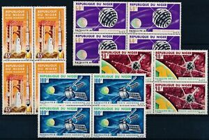 [P15145] Niger 1966 : Space - 4x Good Set Very Fine MNH Air. Stamps in Blocks