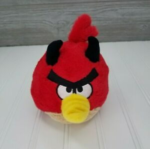 "Angry Birds Seasons Devil Red Bird 5"" Plush Stuffed Animal w/Horns & Tail 2011"