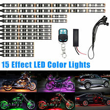 12pcs Multi-Color Waterproof Flexible Strip Car Motorcycle LED NEON Lighting Kit