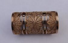 Antique Sterling Silver Scarf Ring Clip Holder Cannetille Filigree Rare