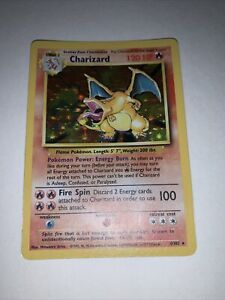 Charizard 4/102 1999 Base Set Holo Rare Pokémon Card Pokemon