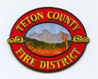 Teton County Fire District Patch Idaho ID