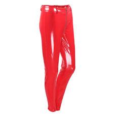 Women Zip Up Push Up Skinny Legging Wet Look PU Leathers Leggings Pants Trousers