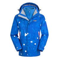 Boy Girls Outdoor 3in1 Fleece Lined Jacket Waterproof Camping Hiking Hooded Coat