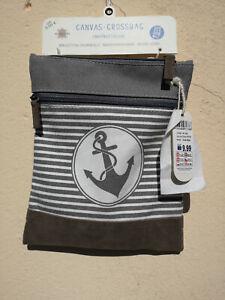Goldline Crossbag Shoulder Bag Water-Resistant Anchor Grey