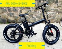 FATBIKE ELECTRIC E BIKE FOLDING 48v 500W FAT TYRE CYCLE EBIKE SNOW MOUNTAIN 20