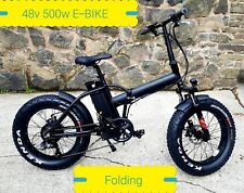 SNOW ELECTRIC E BIKE FOLDING 48v 500W FAT TIRE CYCLE EBIKE CUSTOM MOUNTAIN UK