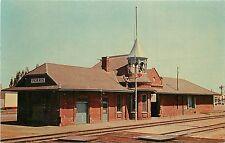 Vintage Postcard Santa Fe Railroad Station Perris CA Riverside County