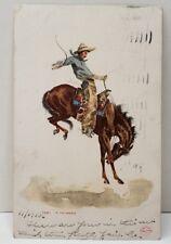 7681 In The Saddle Detroit Publishing Co. Cowboy Western 1906 Postcard C5