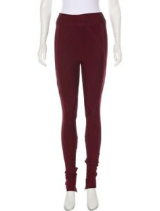 $2495 Herve Leger Jegging Pant Purple/burgundy Bandage High Waist Rise Legging