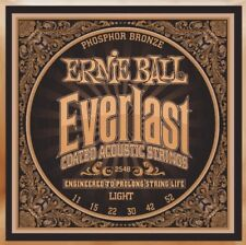 ERNIE Ball 2548 Everlast bronzo al fosforo leggeri Stringhe acustico 11 -52