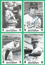 """1985 Kansas City Royals 21 Team Issued 3 1/4"""" x 5"""" Autographed Post Cards"""