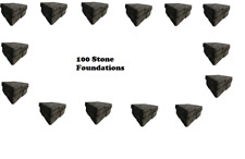 Ark Survival Evolved 100 Stone Foundation PVE-Xbox ONE Official NEW SERVERS