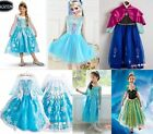 New Disney Princess Frozen Queen ELSA ANNA Costume Tulle Girls Dresses 3T-8T