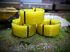 3x 3D PRINTED COILED PIPE WAGON LOADS N GAUGE MODEL RAILWAY 1:148 SCALE AX054-N
