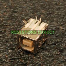10x USB Type B Female Right Angle PCB Mount Socket Port Connector 10pcs X33