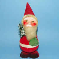 Vintage Santa Claus Elf 7 1/2 Inch Bobble Head Nodder Christmas Candy Container