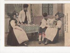Badische Volkstrachten Gruss Aus Dem Hanauerland 1913 Postcard Germany 395a