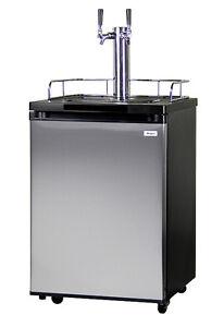 Kegerator Draft Beer Keg Tap Cooler - Double Faucet - D System
