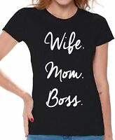 Wife Mom Boss Shirt Mom life T-shirt Gifts for Mom