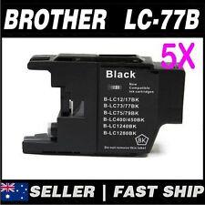 5x Black ink for Brother LC73 LC77XL for MFCJ6510DW, MFCJ6710DW, MFCJ6910DW