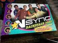 NSYNC Backstage Pass Board Game by Patch Boy Band Trivia Complete EC