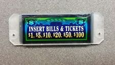 Bally Alpha Slot Machine Bill Acceptor Vailidator INSERT BILLS & TICKETS Plaque