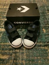 BNIB Boys Leather Converse Shoes Size 8