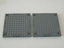 Lego 52040 # 2x Bau Platte Bauplatte 12x12 neu dunkelgrau grau 7237 7623