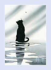 Black Cat Print After The Rain by Irina Garmashova