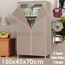 1.5M Portable Clothes Closet Wardrobe Storage Organizer Non-woven Fabric  A D