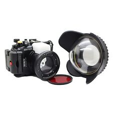 Meikon 40M Underwater Camera Housing Case for Sony RX100 IV M4, Wide angle lens