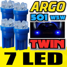 4 X 501 Lateral 7 LED Xenón Super Azul Bombillas T10 W5W 168 Dc Luces Doble