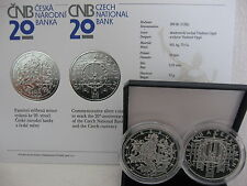 Czech Republic 2013 200 Crowns Silver PP proof 20 J. National Bank and CZ Crown -