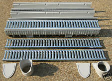 """Mea-Josam CPS100-10 - 10' Complete Trench Drain Kit, 4"""" Wide Galvanized Grate"""