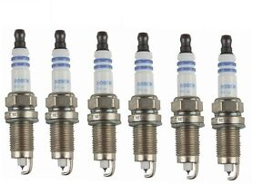 For Chrysler Dodge Eagle Jeep Plymouth Set of 6 Spark Plugs Bosch Iridium 9656
