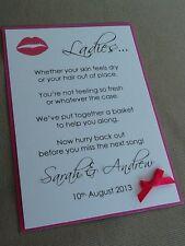 Fatto a mano personalizzato COMFORT BAGNO CESTO DA TOILETTE sign WEDDING