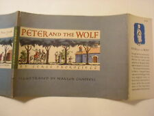 Peter and the Wolf, Serge Prokofieff, Warren Chappell, Dust Jacket Only