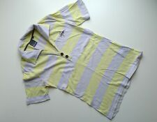 VOLCOM Ladies T-Shirt Top Grey/Yellow Stripe Surf Skate Snow Womens, Small UK 8