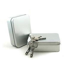 Camping Organizer Tin Empty Plain Metal Storage Bit Box Survival Holder Case