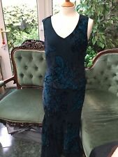 CC Long Devore Velvet Dress
