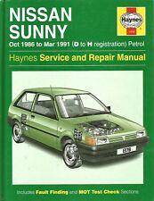 Haynes 1378 - Nissan Sunny 1986-1991 Petrol Service & Repair Manual..