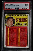 1969 Topps - Checklist 513-588 - #504 - PSA 9 - MINT