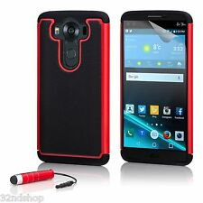 32nd Dual Layer Shockproof Case Cover for LG K4 (2016) Red