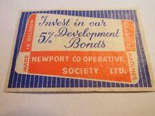 Etiquette allumette - NEWPORT Co-operative Society Ltd - (113)