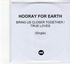 (FB895) Hooray For Earth, Bring Us Closer Together - 2012 DJ CD
