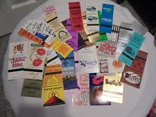 LOT OF 37 VINTAGE MATCHBOOK COVERS VARIOUS LOCATIONS