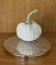 Bath & Body Works WHITE VELVET PUMPKIN CANDLE TOPPER 3-wick Magnet NWT